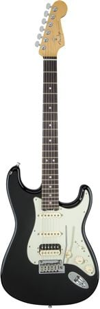 Fender American Elite Strat HSS Shawbucker Rosewood Black with Case