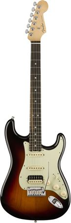Fender American Elite Strat HSS Shawbucker Ebony 3 Color Sunburst W/C