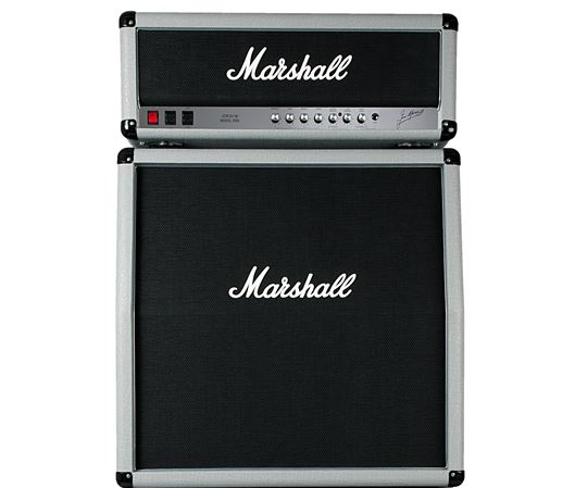 Marshall 2555X Silver Jubilee Head with 2551AV Cabinet Half Stack