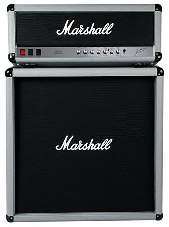 Marshall 2555X Silver Jubilee Head with 2551BV Straight Cab Half Stack