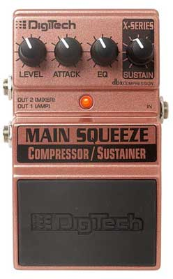 DigiTech Main Squeeze Compressor Sustainer Pedal