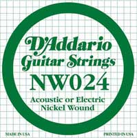 DAddario NW024 Nickel Wound Electric Guitar String