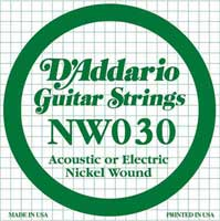 DAddario NW030 Nickel Wound Electric Guitar String