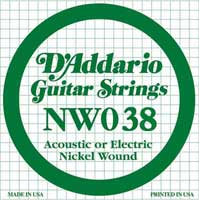 DAddario NW038 Nickel Wound Electric Guitar String