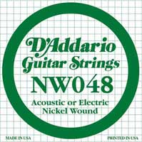 DAddario NW048 Nickel Wound Electric Guitar String