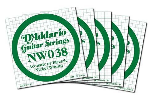 DAddario NW038 Nickel Wound Electric Guitar String