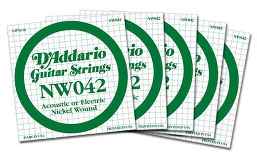 DAddario NW042 Nickel Wound Electric Guitar String