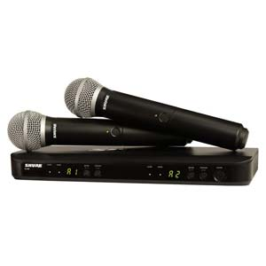 Shure BLX 288PG58 Dual Handheld Wireless Microphone System Band H9