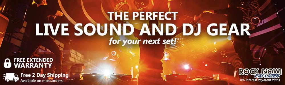 The perfect live sound and DJ gear for your next set!