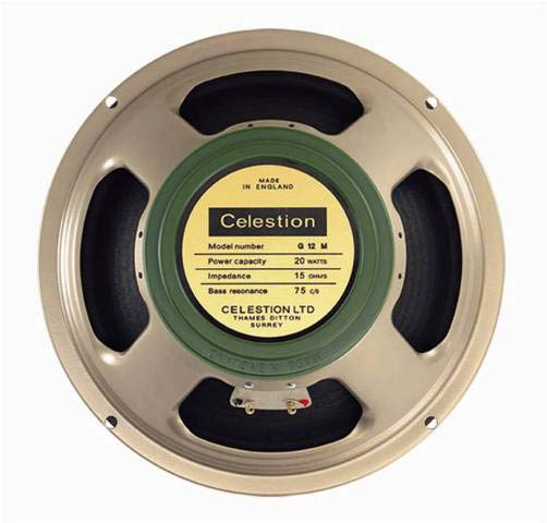 The Celestion 15 Ohm, Greenback T1221/67 G12M Special speaker used in the 1973X