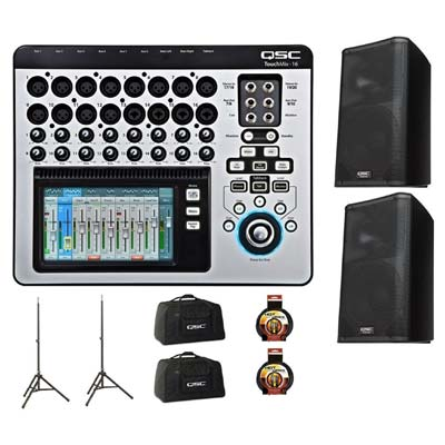 QSC TouchMix 16 Digital Mixer With K12 Powered Loudspeaker Pair Pack