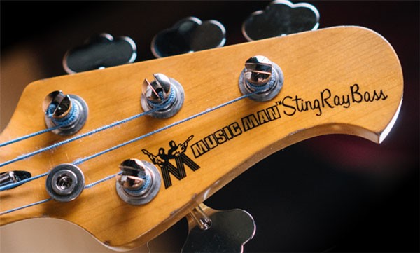 Cliff Williams Stingray Bass Headstock
