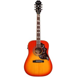 Epiphone Hummingbird PRO Acoustic Electric Guitar Faded Cherry
