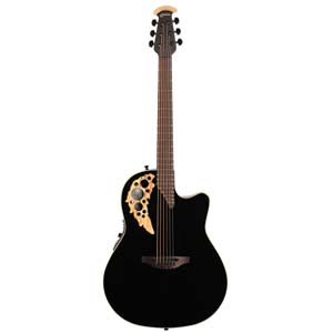 Ovation Elite TX Mid Depth Acoustic Electric Spalt Maple Black
