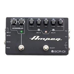 Ampeg SCRDI Bass Preamp DI Box Pedal with Scrambler Overdrive