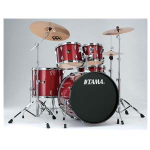 Tama Imperialstar 5 Piece Drum Set with Meinl Cymbals Candy Apple Mist