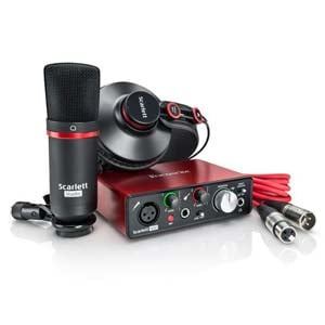 Focusrite Scarlett Solo Studio 2nd Generation Recording Package