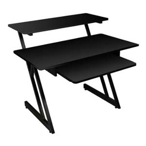 On Stage WS7500 Series Wood Workstation Black