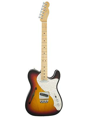 Fender American Elite Tele Thinline Maple Neck 3 Color Sunburst w/Case