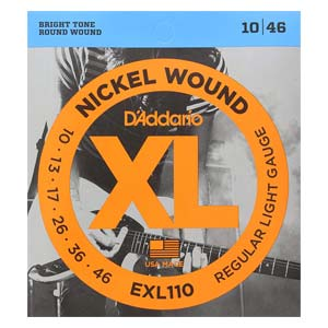 D'Addario EXL110 XL Nickel Wound Electric Guitar Strings 10-46