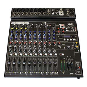 Peavey PV14 14 Channel Stereo Mixer with Compression and Auto Tune