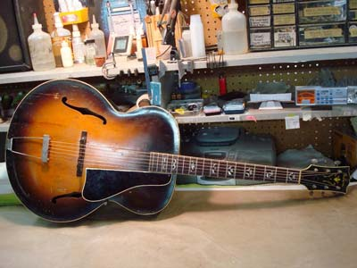 Above is the restored L7. Check out Gibson's Gallery of the full restoration.