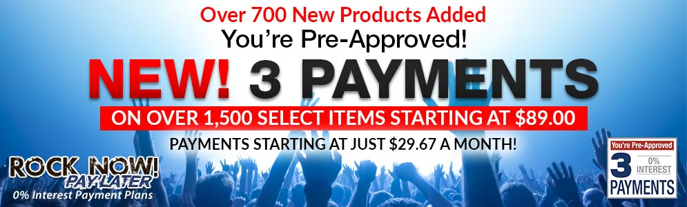 You're Pre-Approved! 3 Payments on Select Items under $249