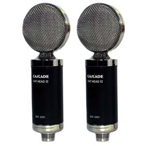 Cascade Fat Head II Ribbon Microphones Stereo Pair With Lundahl Black