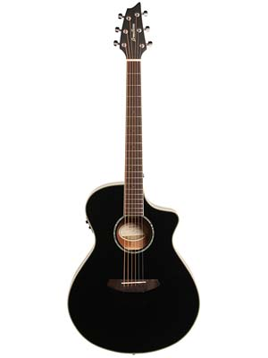 Breedlove Exclusive Run Pursuit Concert A/E Black Gloss with Gig Bag