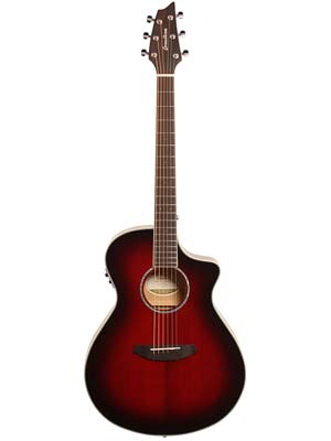 Breedlove Exclusive Run Pursuit Concert A/E Trans Merlot Burst w/Bag