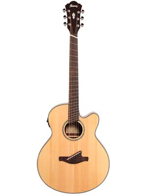 Ibanez AELFF10 Multiscale Acoustic Electric Guitar Natural