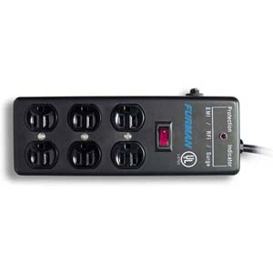 Furman SS6B Pro 6 Outlet Surge Suppressor Power Block With 15' Cable