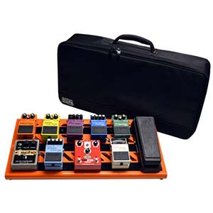 Gator GPBBAKOJ Orange Aluminum Large Pedal Board with Bag