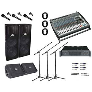 AMS - Behringer - Peavey Tour PA System - Upgraded