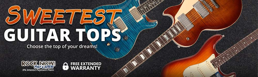 Sweetest Guitar Tops - Choose the figured top of your dreams!