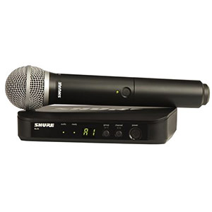 Shure BLX 24PG58 Handheld Wireless Mic System with PG58