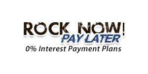 Rock Now Pay Later 0% Interest Payment Plans