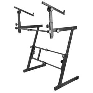 On Stage 2 Tier Folding Z Keyboard Stand