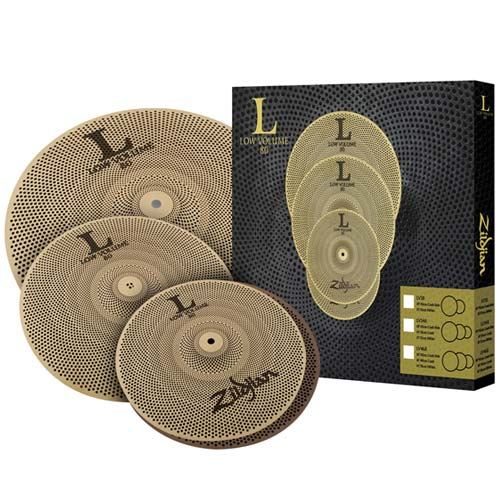 Zildjian L80 348 Low Volume Cymbal Set 13 Inch Hi Hat 14 Crash 18 Ride