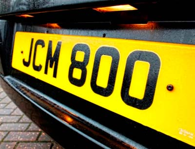 JCM800 – the truth behind the name: the license plate on Jim's car!!