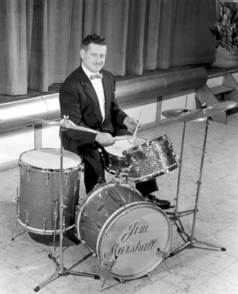 Jim on his kit in the '50s