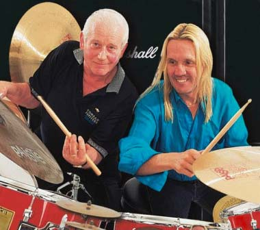 Jim with his great friend & fellow drummer – Nicko McBrain of Iron Maiden fame.