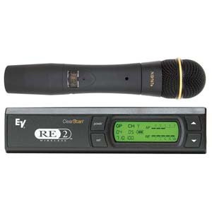 Electro-Voice RE2N7A Handheld Vocal Wireless Microphone System Band A