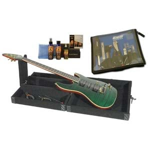 Grundorf GMT003B Portable Guitar Maintenance Table Carpet CruzTools MusicNomad Guitar Care Kit