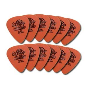 Dunlop 4181 Tortex Standard Guitar Picks .60mm 12 Pack Orange
