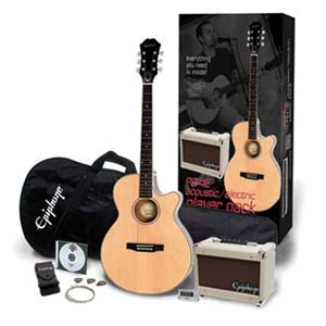 Epiphone PR4E Player Cutaway Acoustic Package Natural