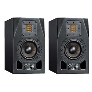 "ADAM A3X 4 1/2"" 2-Way Powered Studio Monitor With Ribbon Tweeter Pair"