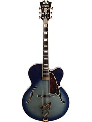 Dangelico EXL1 Hollowbody Electric Guitar with Case Blue Burst