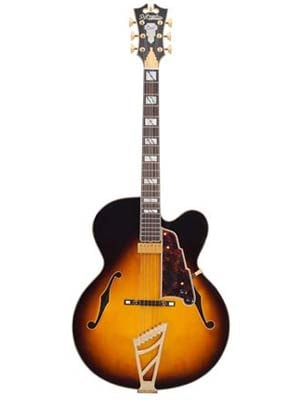 Dangelico Excel EXL1 Hollowbody Electric with Case Vintage Sunburst