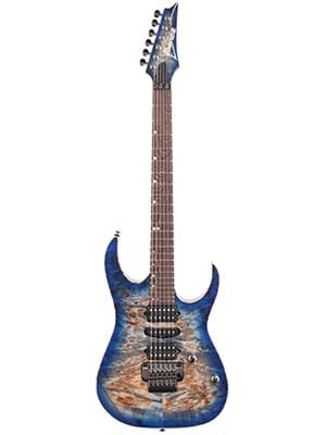 Ibanez Premium RG1070PBZ Electric Guitar with Case Cerulean Blue Burst